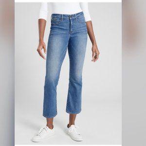 Athleta Sculptek Crop Kick Morro Wash Jeans